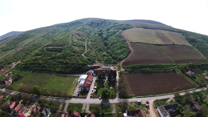 Balla Géza borász - borvidék drón felvétele